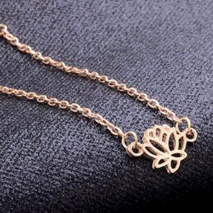 Jewelry - Dainty Boho Lotus Anklet